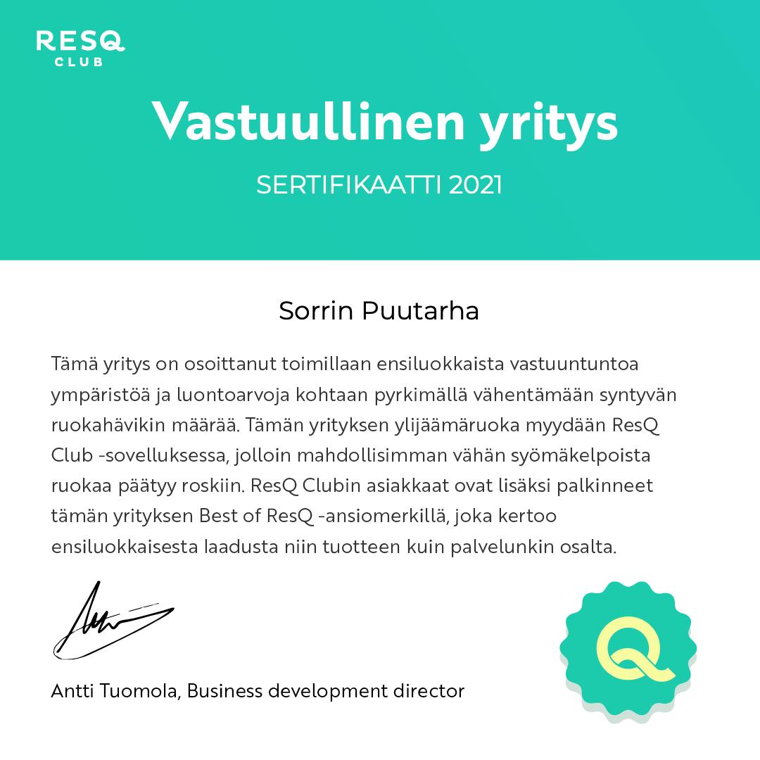 ResQ sertifikaatti